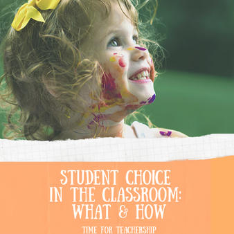 Student Choice in the Classroom: What & How. Elevate student voice and student engagement with choice boards. How to offer student choice in what and how they learn or are assessed. Check out the blog post by Lindsay Lyons for Time for Teachership. Scroll down to get 1 of my #teacherfreebies. For more instructional strategies & free resources, sign up for weekly emails at bit.ly/letterfromlindsay