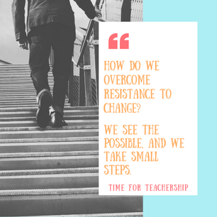 The Power of Small Steps. Little actions can lead to big wins. Overcome fear of loss and change, and reach your goal of bringing less school work home. Scroll all the way down to enter our 5-Day Challenge! Check out the blog post by Lindsay Lyons for Time for Teachership. For more tips and #teacherfreebies, sign up for weekly emails at bit.ly/lindsayletter   #teachinginspiration #growthmindset