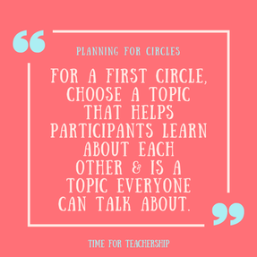 Using a Circle Protocol. Increase student engagement, build relationships, and improve class discussion with circles. Check out the blog post by Lindsay Lyons for Time for Teachership. Scroll down to get my free circle lesson planning template. For more instructional strategies & free resources, sign up for weekly emails at bit.ly/letterfromlindsay